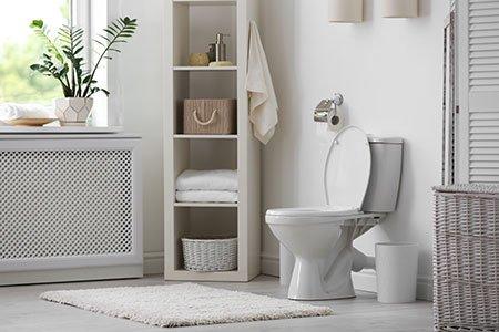toilet in home bathroom